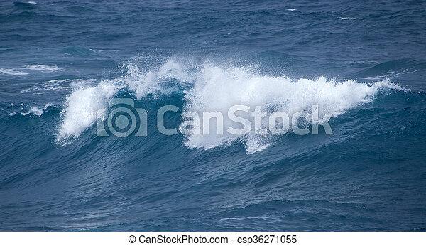 breaking ocean waves - csp36271055