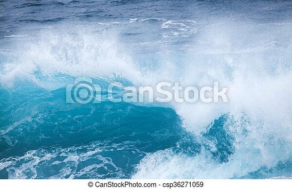 breaking ocean waves - csp36271059