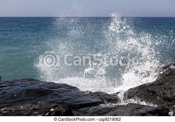 Breaking ocean waves - csp9219062