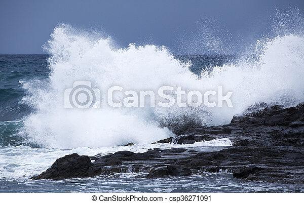 breaking ocean waves - csp36271091