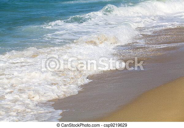 Breaking ocean waves - csp9219629