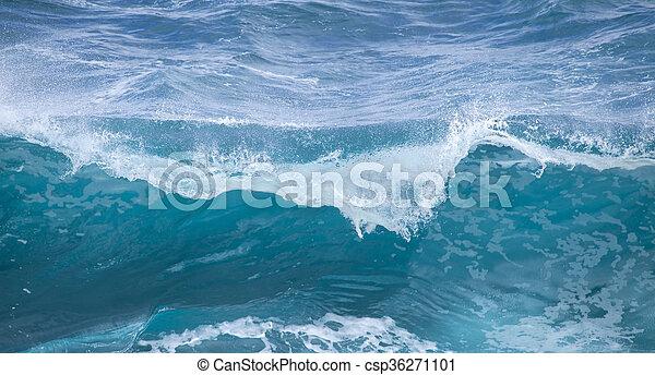 breaking ocean waves - csp36271101