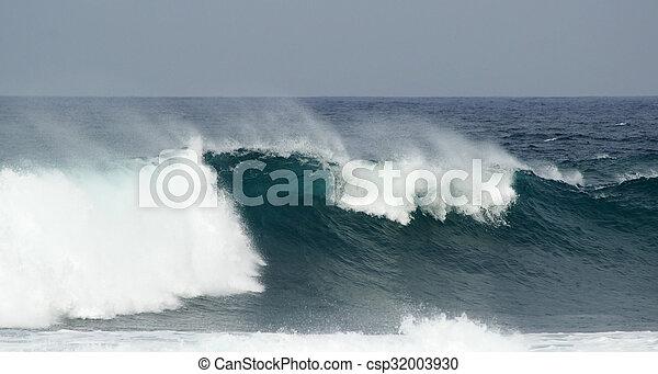 breaking ocean waves - csp32003930
