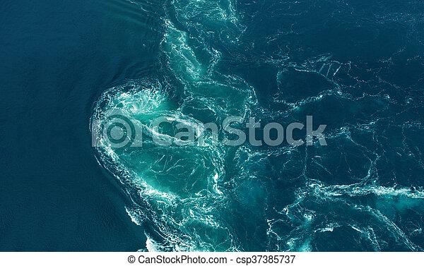 Breaking ocean waves - csp37385737
