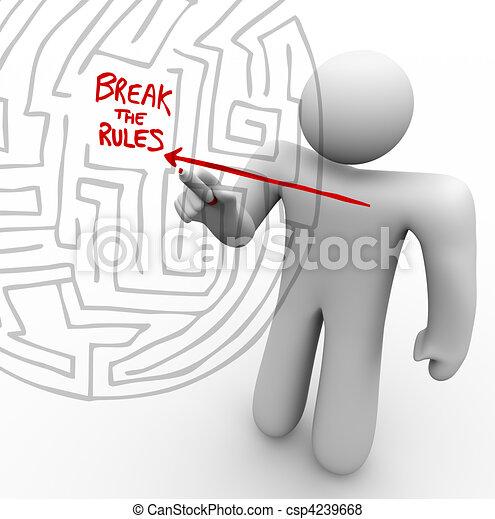 Breaking the Rules - Arrow Through Maze - csp4239668