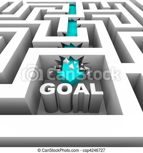 Breaking Through Walls to Reach a Goal - csp4246727