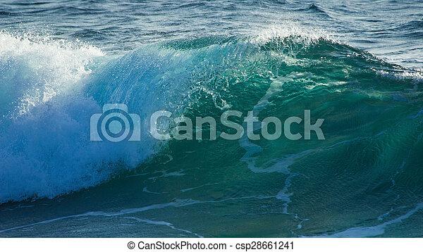 breaking waves - csp28661241