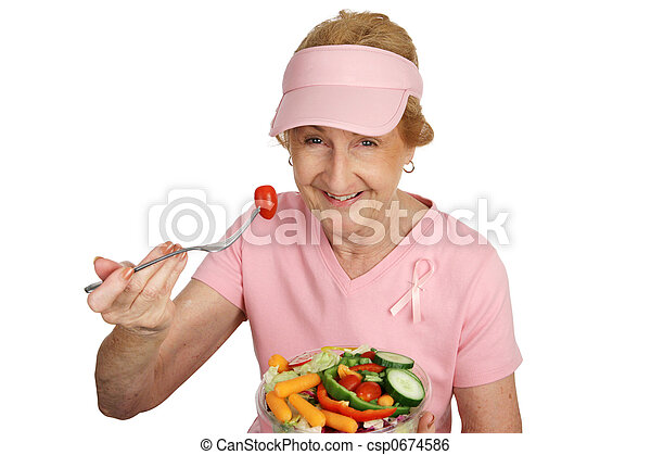 Breast Cancer Awareness - Healthy Eating - csp0674586