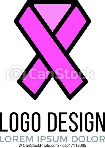 35e2d836cbf Breast cancer awareness logo design concept. Pink ribbon icon, awareness  ribbon symbol. Vector