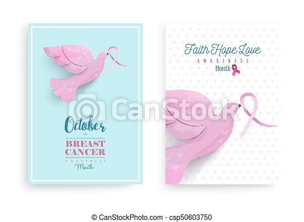 Breast Cancer Awareness Pink Ribbon Bird Poster Breast Cancer