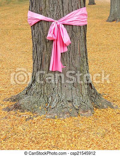 Breast cancer awareness ribbon - csp21545912