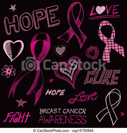 Breast Cancer Awareness Sketch A Handdrawn Doodle Art Sketch Of