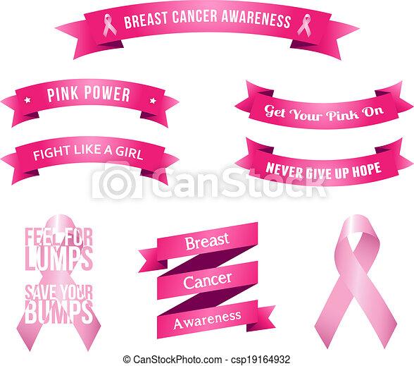 Breast Cancer Awareness Slogans - csp19164932