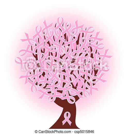 breast cancer pink ribbon tree - csp5015846