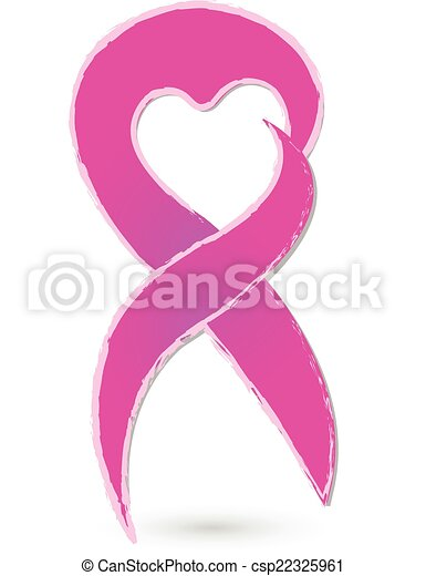 Breast Cancer Ribbon Concept Logo Breast Cancer Ribbon Concept With