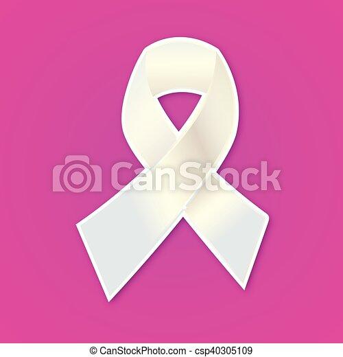 Breast Cancer Ribbon Silver Symbol Vector