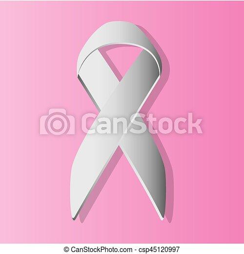 Breast Cancer Ribbon Symbol Vector Illustration Eps 10