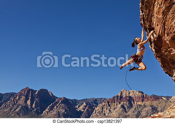 Breath-taking rock climber. - csp13821397