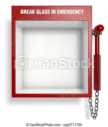 brechen, glas, notfall - csp3711704