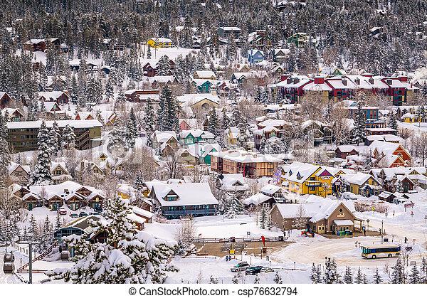 Breckenridge, Colorado, USA town skyline in winter - csp76632794