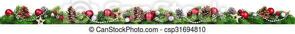 breed, kerstmis, grens, extra - csp31694810