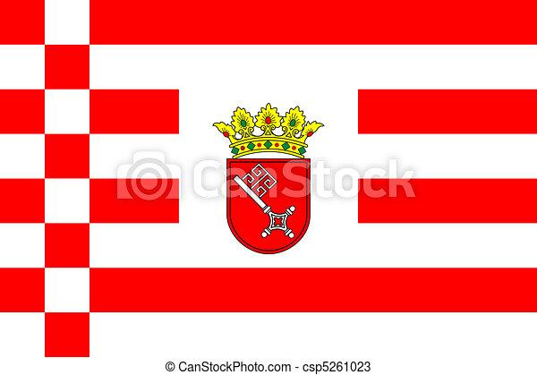 Bremen city flag - csp5261023