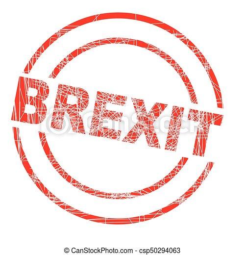 Brexit Ink Stamp - csp50294063