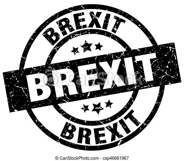 brexit round grunge black stamp - csp46661967