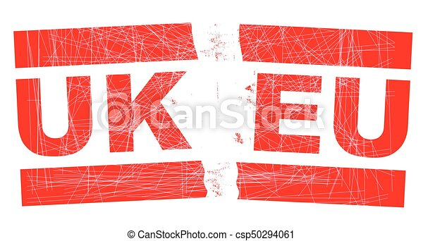 Brexit Split Stamp - csp50294061