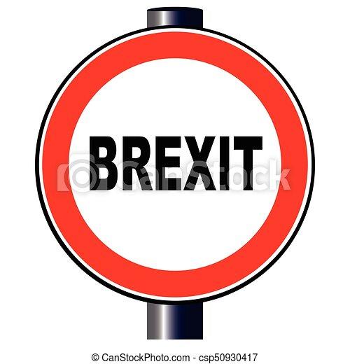 Brexit Traffic Sign - csp50930417