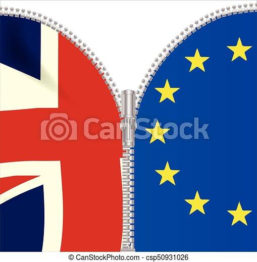 Brexit UK EU Split Zipper - csp50931026