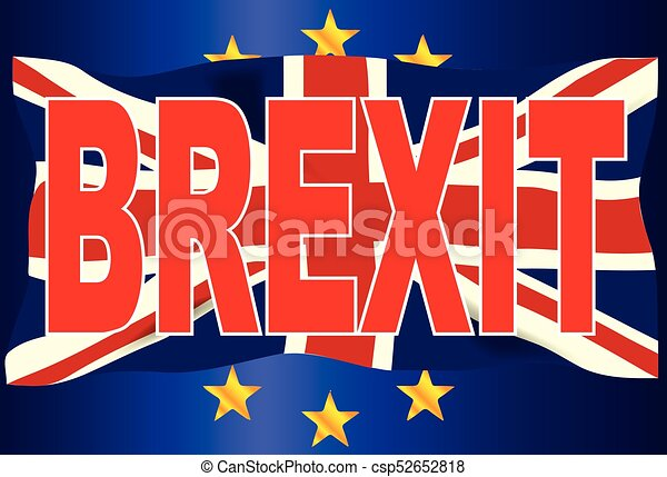 Brexit Union Jack Over EU Flag - csp52652818