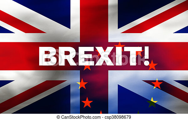 Brexit United Kingdom Flag Background Illustration - csp38098679