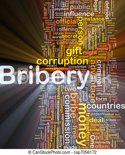 Bribery background concept glowing - csp7056172