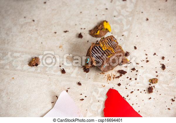 briciole, pavimentazione, cupcake - csp16694401