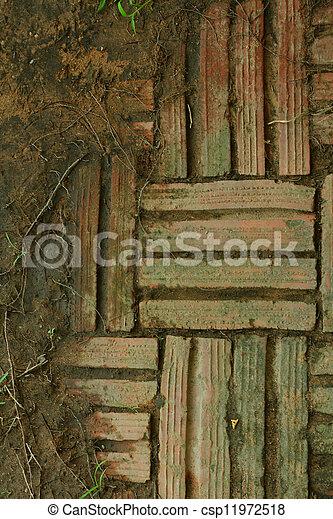 Brick background - csp11972518