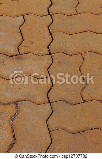 Brick background - csp12707782