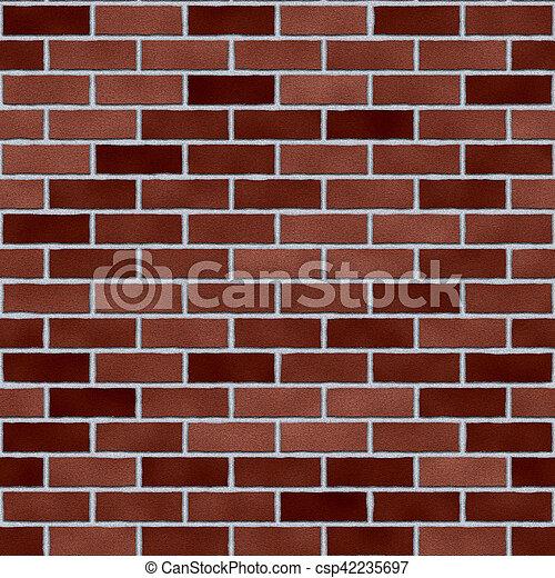 brick background - csp42235697