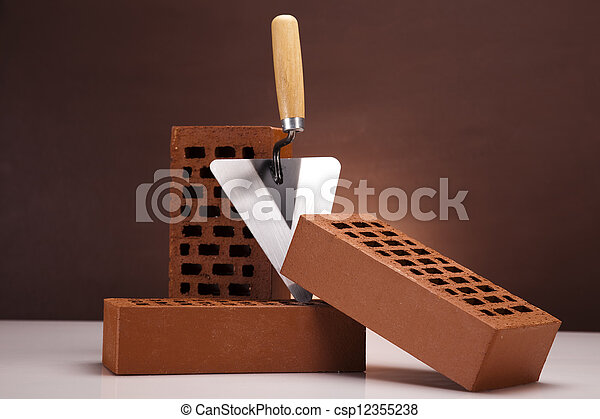 Brick background - csp12355238