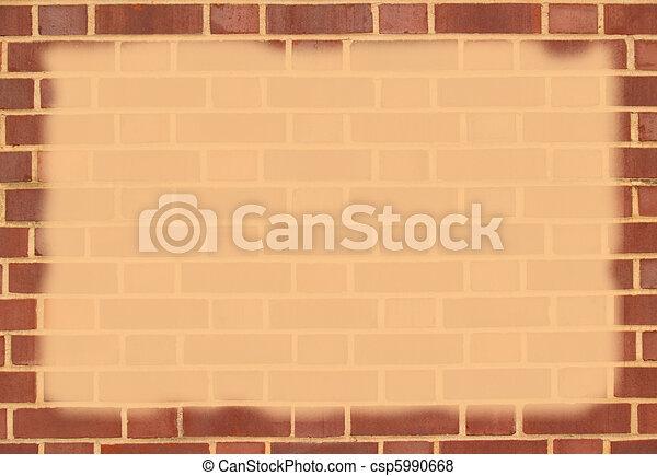 Brick Border With Copy Space - csp5990668