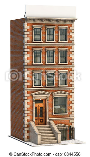 Brick Building Illustration Of A Stock