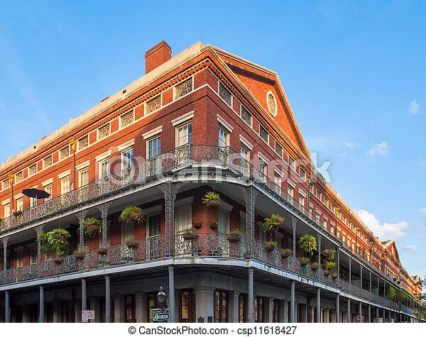Brick Building in French Quarter - csp11618427