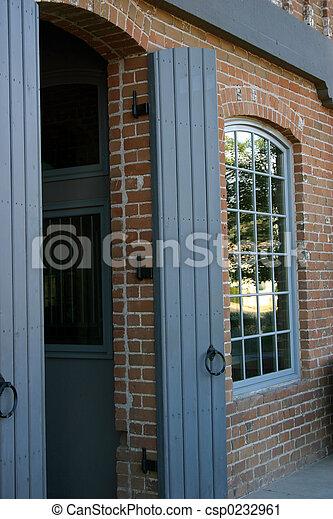 Brick Building - csp0232961