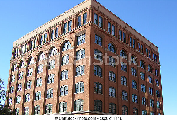 Brick Building - csp0211146