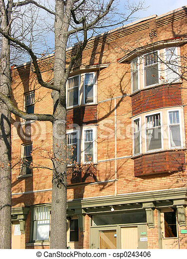 Brick building - csp0243406