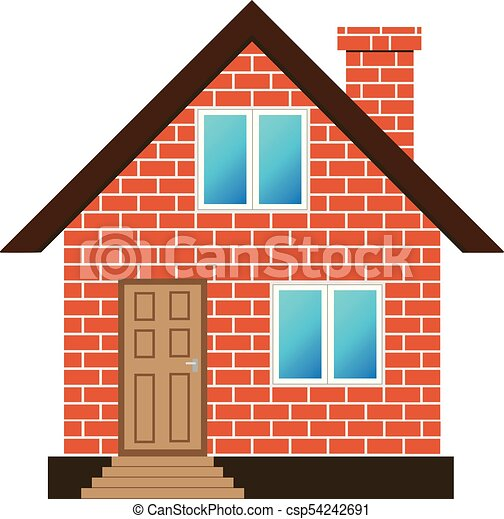 brick house vector eps vectors search clip art illustration rh canstockphoto com red brick house clipart brick house clipart black and white
