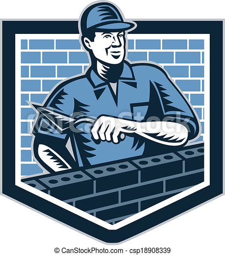 brick layer mason masonry worker retro illustration of a vectors rh canstockphoto com masonic clip art free images masonic clip art free images