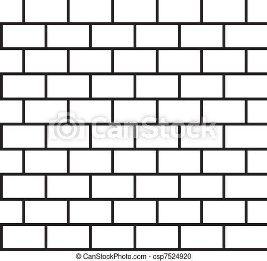 Brick Pattern Seamless Black And Wh Vector