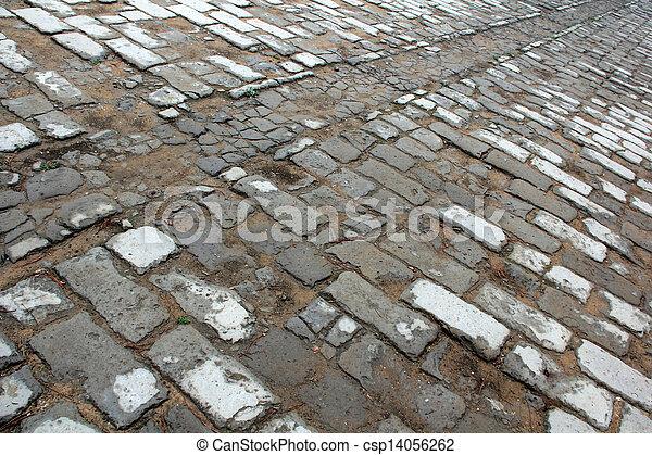 brick paved ground - csp14056262