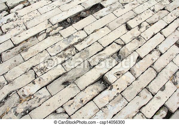 brick paved ground - csp14056300